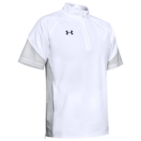Under Armour Team Motivate Woven S/S 1/4 Zip - Men's - White