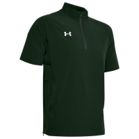 Under Armour Team Motivate Woven S/S 1/4 Zip - Men's - Dark Green