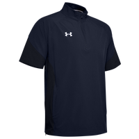 Under Armour Team Motivate Woven S/S 1/4 Zip - Men's - Navy