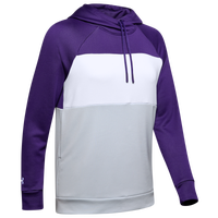 Under Armour Team Terry Fleece Blocked Hoodie - Women's - Purple / Grey