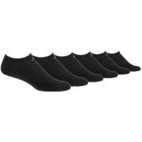 adidas Athletic 6-Pack No Show Socks - Men's - All Black / Black