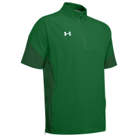 Under Armour Team Motivate Woven S/S 1/4 Zip - Men's - Green