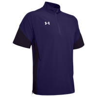 Under Armour Team Motivate Woven S/S 1/4 Zip - Men's - Purple