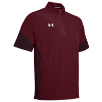 Under Armour Team Motivate Woven S/S 1/4 Zip - Men's - Maroon