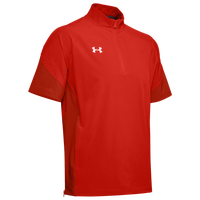 Under Armour Team Motivate Woven S/S 1/4 Zip - Men's - Red