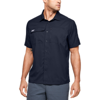 Under Armour Team Motivate Button Up - Men's - Navy