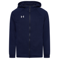 Under Armour Team Hustle Fleece Full-Zip Hoodie - Boys' Grade School - Navy