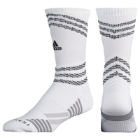 adidas Speed Mesh Team Crew Socks - White / Grey