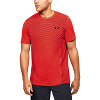 Under Armour Seamless Knit Wave T-Shirt - Men's - Red