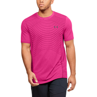 Under Armour Seamless Knit Wave T-Shirt - Men's - Pink