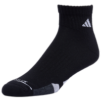 adidas 3 Pack Cushion Quarter Socks II - Men's - Black