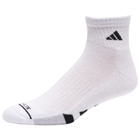 adidas 3 Pack Cushion Quarter Socks II - Men's - White