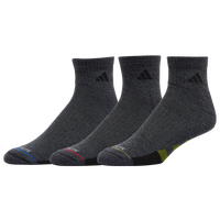 adidas 3 Pack Cushion Quarter Socks II - Men's - Grey