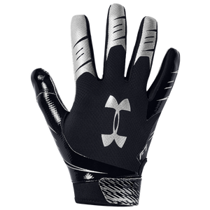 Under Armour F7 Receiver Gloves - Men's - Black/Metallic Silver
