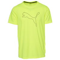 PUMA Performance Cat Logo Running Tee - Men's - Yellow