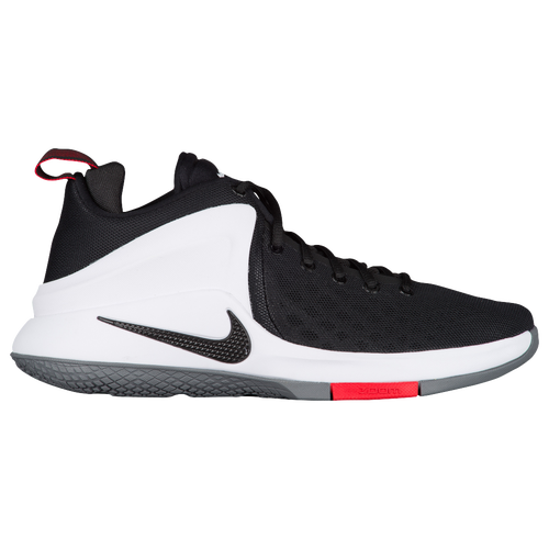 best loved e888d 8a6c8 ... nike zoom witness mens basketball shoes james lebron black white bright  crimson wolf grey