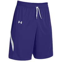 Under Armour Team Clutch Reversible Shorts - Men's - Purple / White