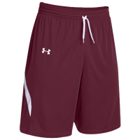 Under Armour Team Clutch Reversible Shorts - Women's - Maroon / White