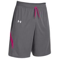 Under Armour Team Clutch Reversible Shorts - Women's - Grey / Pink
