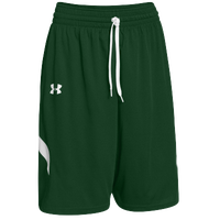 Under Armour Youth Team Clutch Reversible Shorts - Boys' Grade School - Dark Green / White