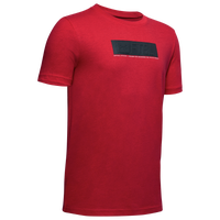 Under Armour Football Branded Stack T-Shirt - Boys' Grade School - Red