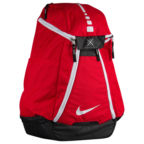 nike quad zip system. nike hoops elite max air 2.0 backpack - basketball accessories university red/black/white quad zip system e