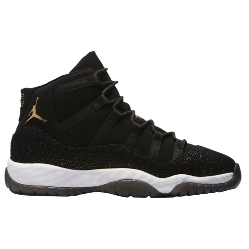 Jordan Retro 11 - Girls' Grade School - Black / Gold