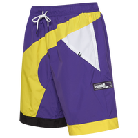 "PUMA RS-B Basketball 9"" Woven Shorts - Men's - Purple / Yellow"
