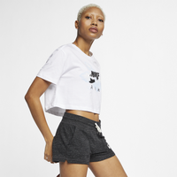 Nike Air Max Logo Crop T-Shirt - Women's - White