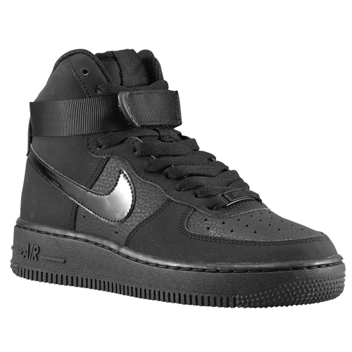 Nike Air Force 1 High - Boys\u0027 Grade School - Basketball - Shoes - Black/ Black/Black