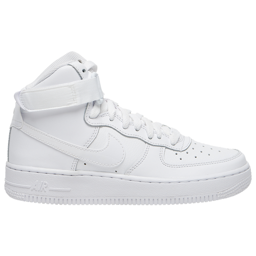 all white nike high top air force 1