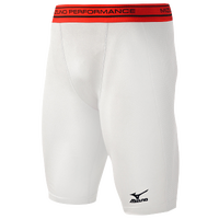 Mizuno Elite Padded Sliding Shorts - Boys' Grade School - White / Red