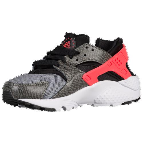 103edbb5c629eb Nike Huarache Run - Boys  Grade School - Casual - Shoes - Black Bright  Crimson Cool Grey White