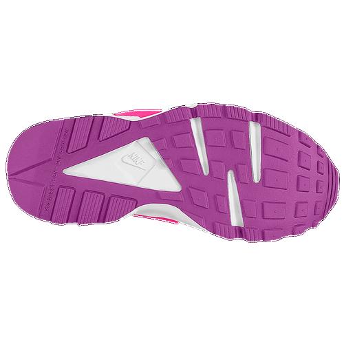 fc283b43d9f42 Nike Huarache Run - Girls  Grade School - Running - Shoes - Black Total  Orange Bold Berry Pink Pow