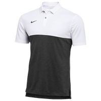 Nike Team Authentic Dry S/S Colorblock Polo - Men's - White / Black