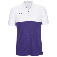 Nike Team Authentic Dry S/S Colorblock Polo - Men's - White / Purple