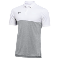 Nike Team Authentic Dry S/S Colorblock Polo - Men's - White / Silver