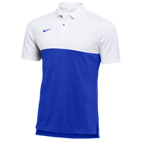 Nike Team Authentic Dry S/S Colorblock Polo - Men's - White / Blue