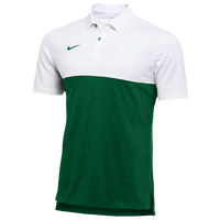 Nike Team Authentic Dry S/S Colorblock Polo - Men's - White / Dark Green