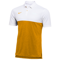 Nike Team Authentic Dry S/S Colorblock Polo - Men's - White / Gold