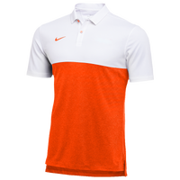 Nike Team Authentic Dry S/S Colorblock Polo - Men's - White / Orange