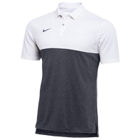 Nike Team Authentic Dry S/S Colorblock Polo - Men's - White / Grey