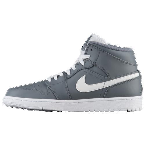 313e873bccfd95 Jordan AJ 1 Mid - Men s - Basketball - Shoes - Cool Grey White