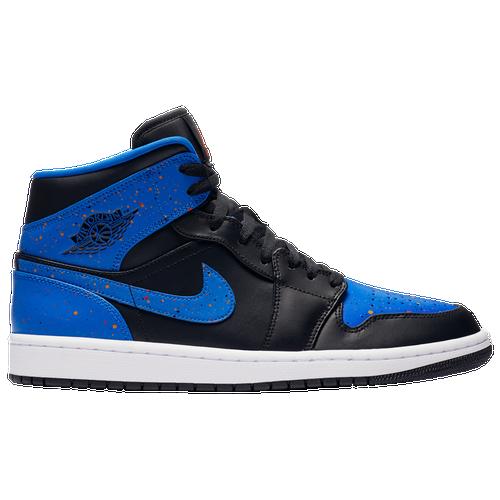 wholesale dealer efcb0 b3304 Jordan AJ 1 Mid - Men s - Basketball - Shoes - Black Team Orange Sign Blue