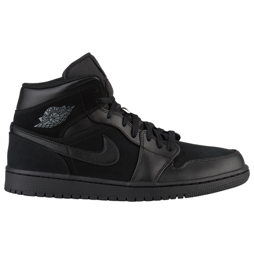 Jordan AJ 1 Mid - Men s - Basketball - Shoes - Black Dark Grey Black ff20e5a01b2d0