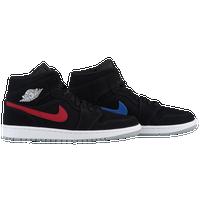 Jordan AJ 1 Mid - Men s - Basketball - Shoes - Black White 156cb66689e1