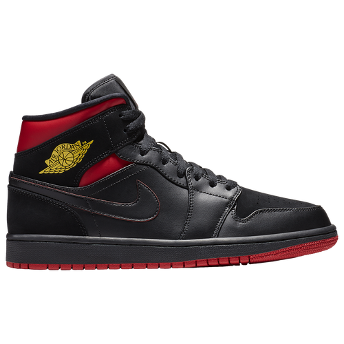 e31e5dc6d4dc Jordan AJ 1 Mid - Men s - Basketball - Shoes - Black Tour Yellow Gym Red