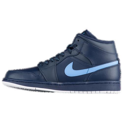 90f21370b2fbb3 Jordan AJ1 Mid - Men s - Basketball - Shoes - Obsidian University Blue White