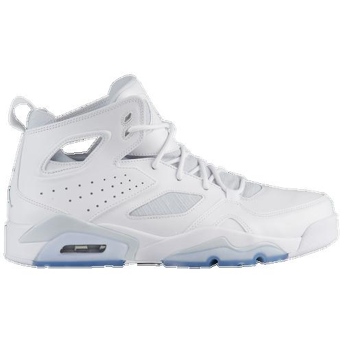 Jordan Flight Club  91 - Men s - Basketball - Shoes - White Pure  Platinum White 5793f7dfb