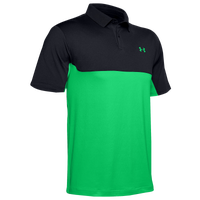 Under Armour Performance 2.0 Colorblock Polo - Men's - Black / Light Green